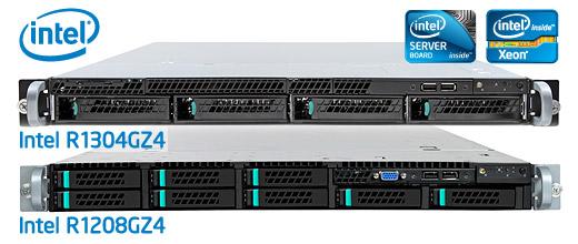Intel R1304GZ4 és R1208GZ4 1U rack szerver