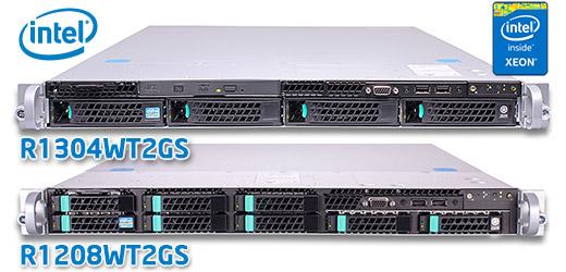 Intel R1304WT2GS és R1208WT2GS 1U rack szerver