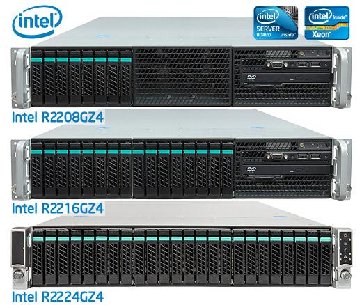 Intel R2208GZ4 és R2224GZ4 2U rack szerver