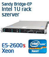 Intel R1208GZ rack szerver, Sandy Bridge-EP