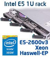 Intel R1304WT2GS 1U rack szerver, Haswell-EP