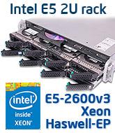 Intel R2208WT2YS 2U rack szerver, Haswell-EP