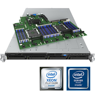 Intel Scalable Xeon, 1U rack szerver
