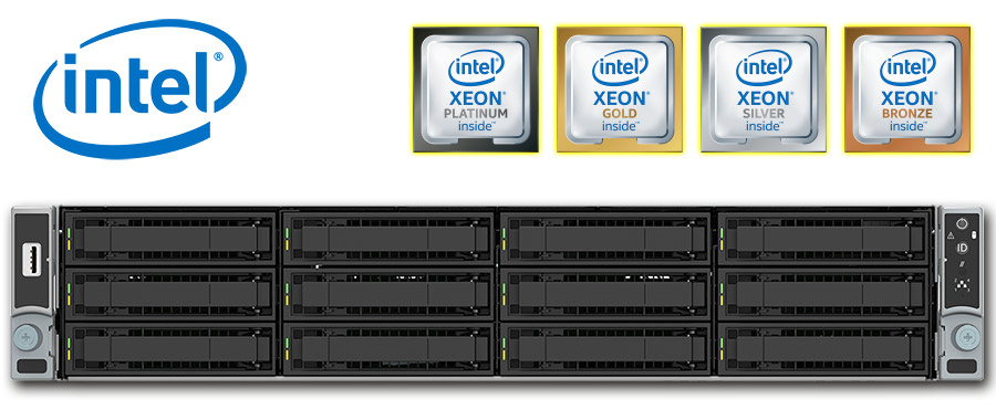 Intel Dual Xeon Scalable (Skylake-SP), 2U rack szerver