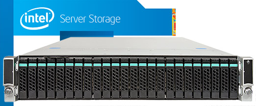 Intel JBOD2000 2U rack szerver storage 2.5
