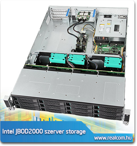 Intel JBOD2000 2U rack szerver storage