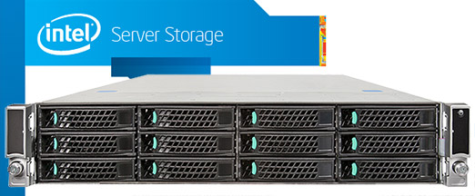 Intel JBOD2000 2U rack szerver storage 3.5
